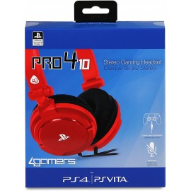 4 GAMERS CASQ P4PRO4 10 RED